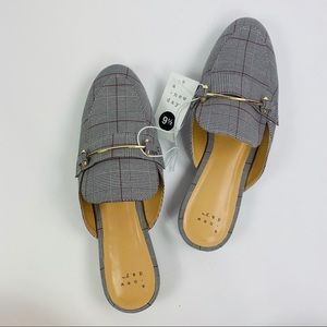 A New Day | NWT Plaid Gold Bar Loafers Size 9.5